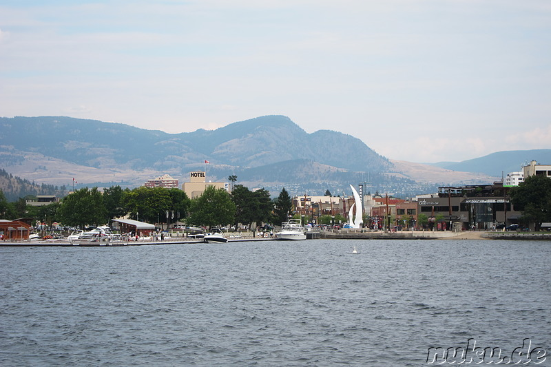 Am Okanagan Lake in Kelowna, Kanada