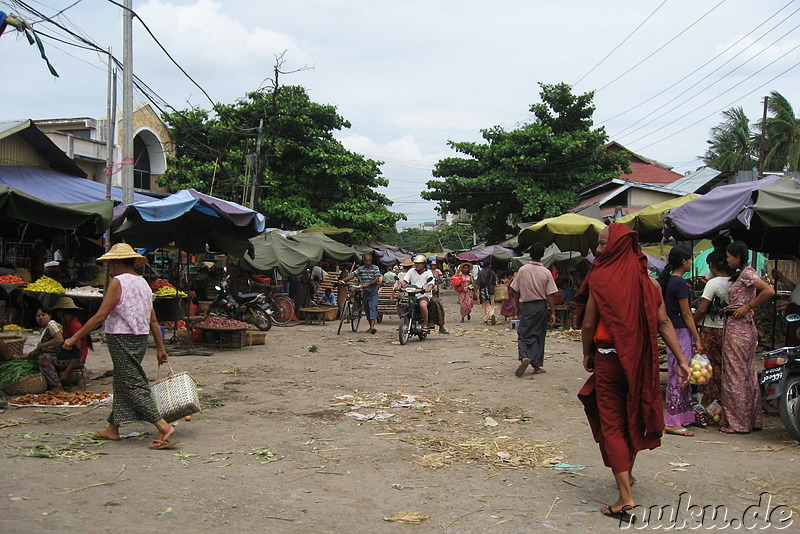 86th Street Market - Strassenmarkt in Mandalay, Myanmar