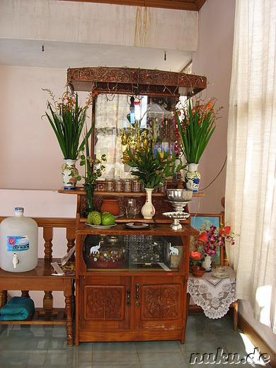 Altar im Gypsy Inn - Hostel in Nyaung Shwe am Inle Lake