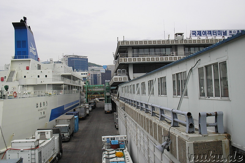 Am Terminal in Busan