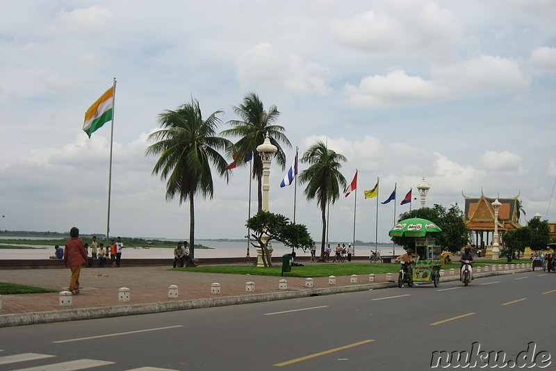 Am Tonle Sap Fluss in Phnom Penh