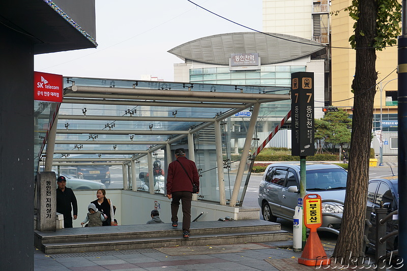 An der Dongincheon Station in Incheon, Korea