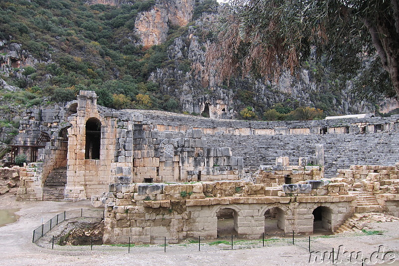 Antikes Theater in Myra, Türkei