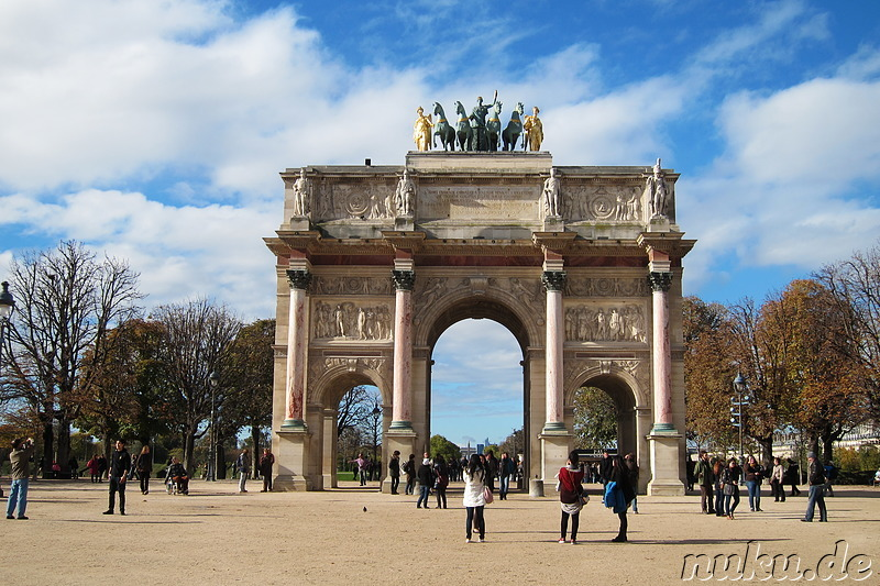 Arc de Triomphe du Carrousel am Jardin des Tuileries in Paris, Frankreich