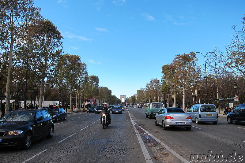 Avenue des Champs-Elysees in Paris, Frankreich