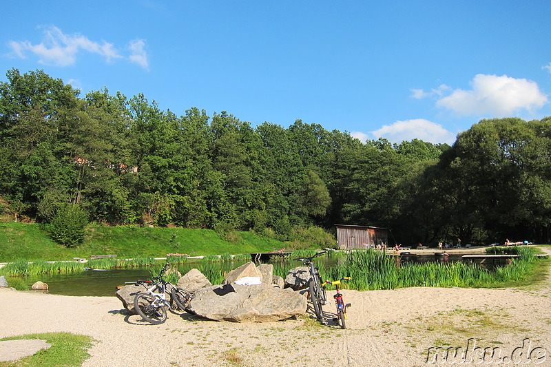 Badesee am Adventure Camp Schnitzmühle - Viechtach, Bayern ...