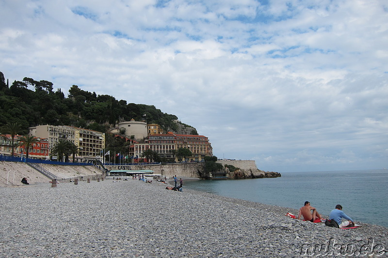 Baie des Anges - Strand in Nizza, Frankreich
