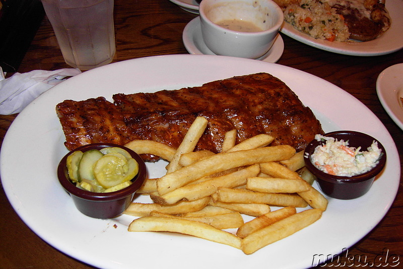 BBQ Spare Ribs mit Pommes - Outback Steakhouse Korea