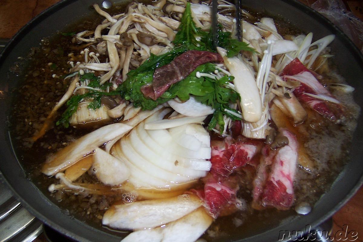 Koreanische k che koreanisches essen kimchi - Miesmuscheln offen vor kochen ...