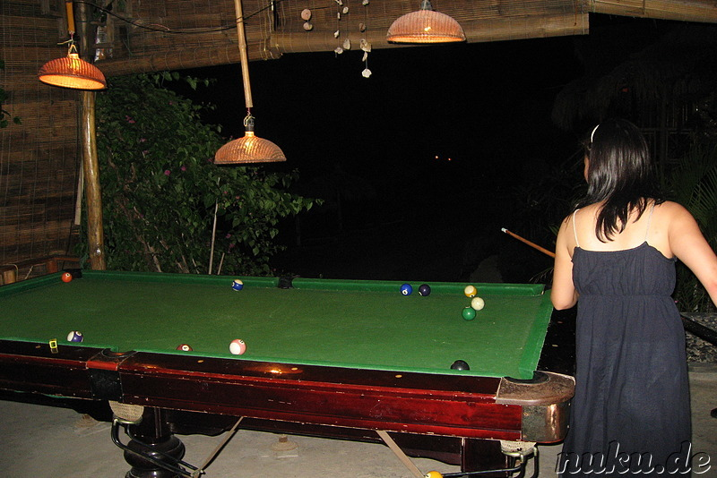 Billiardtisch im Ocean Beach Resort