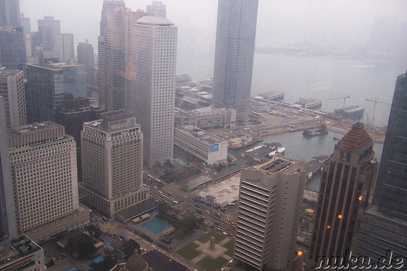 Blick auf Central, aus dem Bank of China Tower