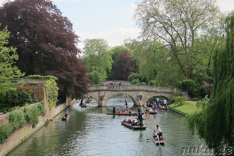 Boote auf dem Cam in Cambridge, England