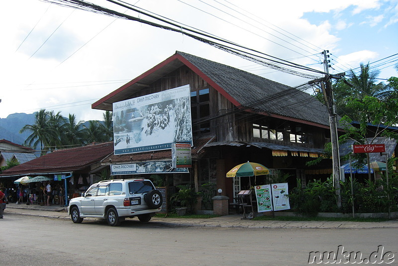 Büro von Green Discovery Travel in Vang Vieng, Laos