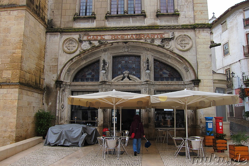 Cafe Santa Cruz in Coimbra, Portugal