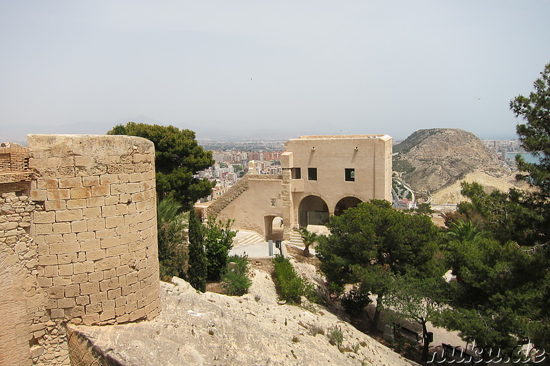 Castillo de Santa Barbara in Alicante, Spanien