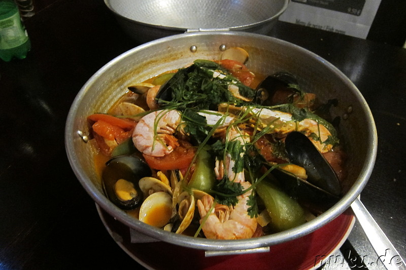 Cataplana - Fischsuppe in Faro, Portugal