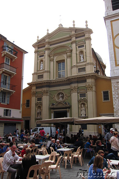 Cathedrale Ste-Reparate am Place Rossetti in Nizza, Frankreich