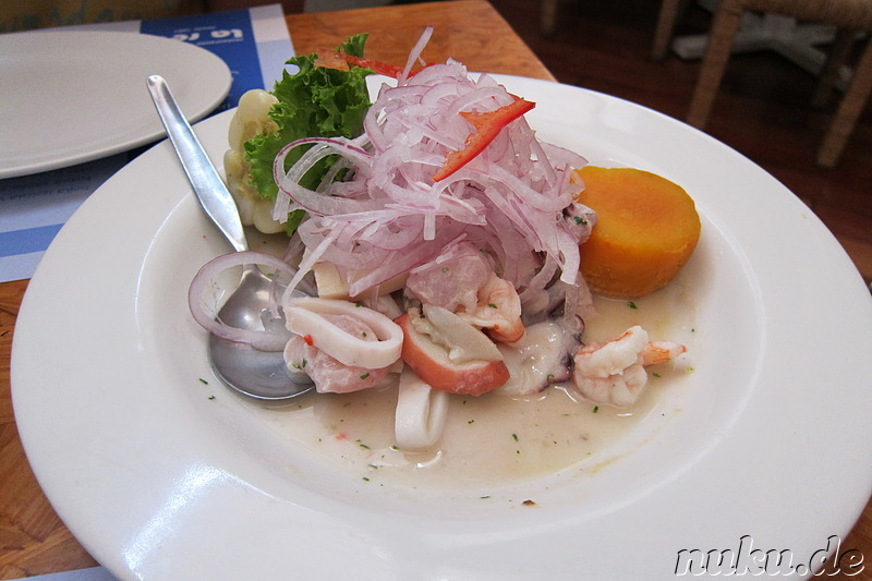 Ceviche im Restaurant La Red in Lima, Peru