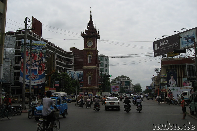 Clock Tower in Mandalay, Myanmar