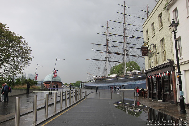 Cutty Sark am Greenwich Pier in Greenwich, London