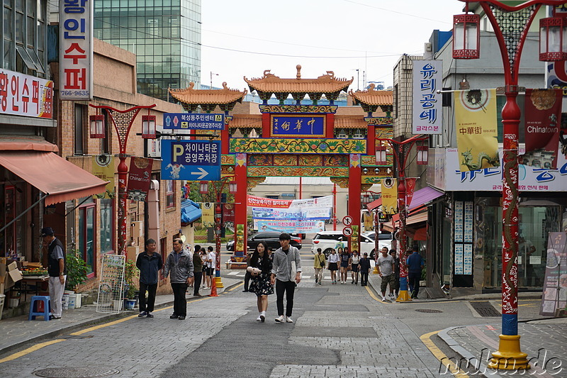 Eindrücke aus Chinatown in Incheon, Korea