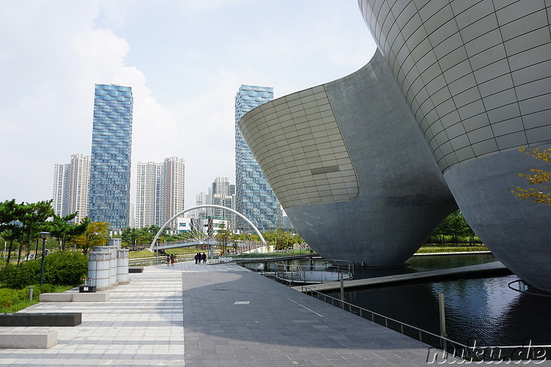 Eindrücke aus der Planstadt Songdo New City in Incheon, Korea