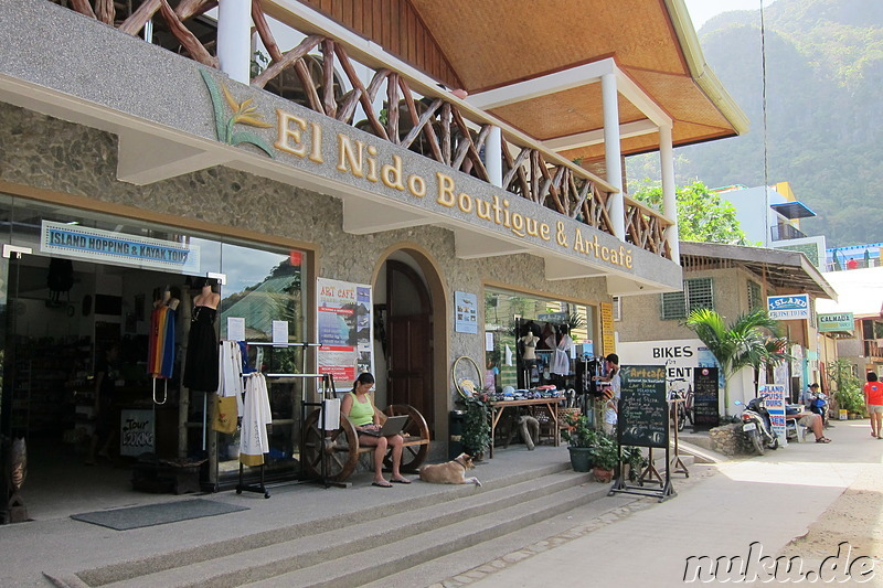 El Nido Boutique & Artcafe in El Nido, Palawan, Philippinen