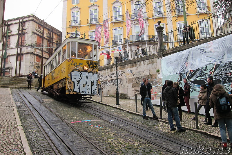Elevador da Gloria in Lissabon, Portugal