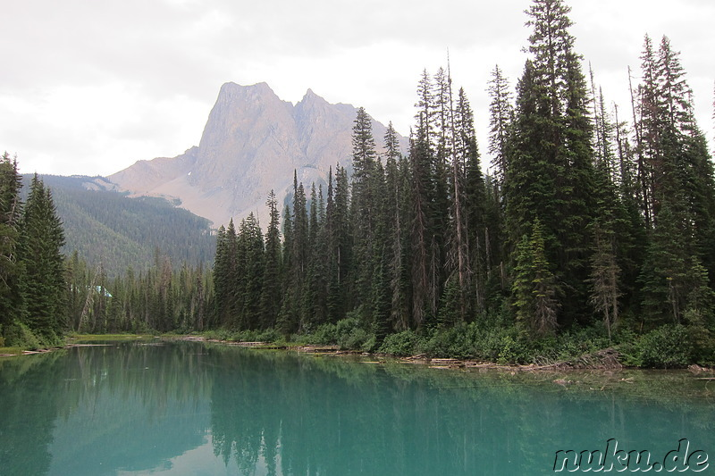 Emerald Lake - See im Yoho National Park in British Columbia, Kanada