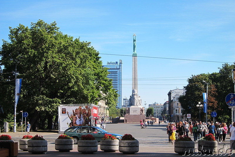 Freedom Monument - Obelisk in Riga, Lettland