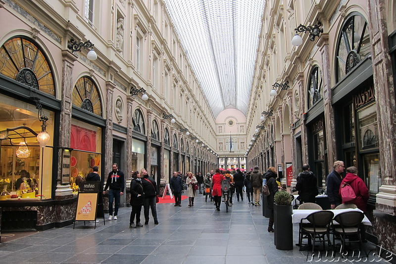 Galeries Royales St. Hubert - Einkaufspassage in Brüssel, Belgien