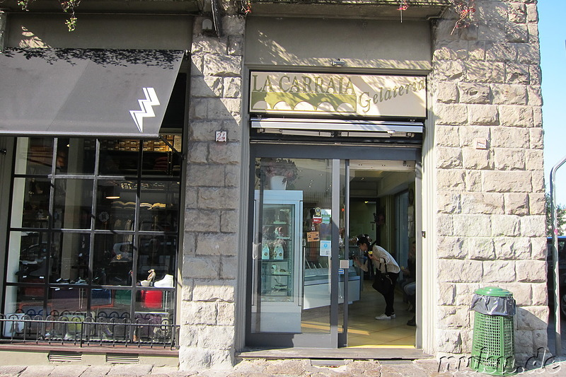 Gelateria La Carraia in Florenz, Italien