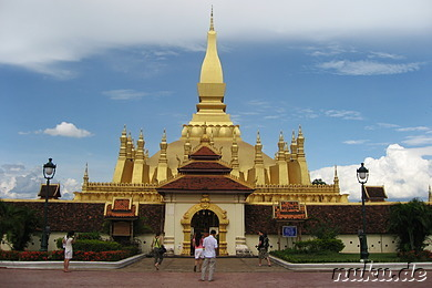 Goldene Stupa, Pha That Luang, Vientiane, Laos