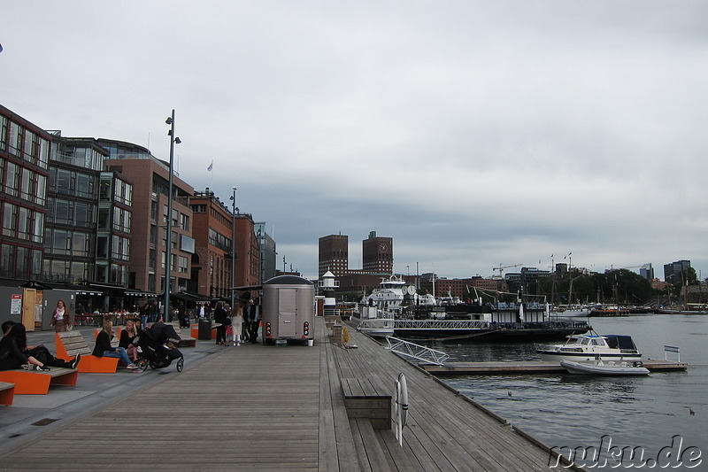 Hafen in Oslo, Norwegen