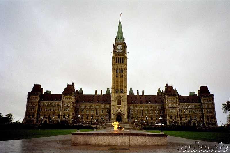 Historical Parliament with Peace Tower, Ottawa, Ontario, Canda