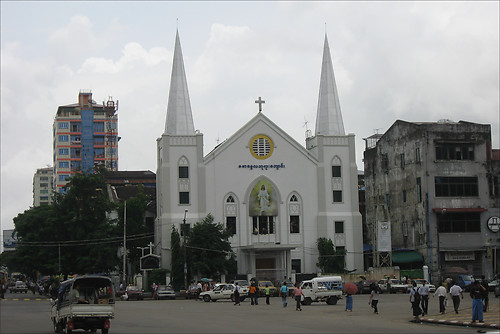 Immanuel Baptist Church in Yangon, Myanmar