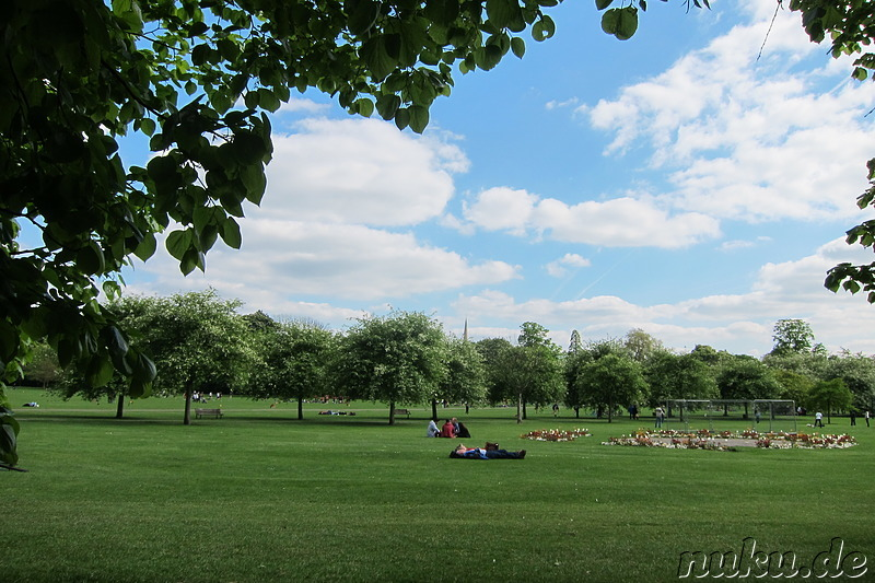 Jesus Green - Parkanlage in Cambridge, England