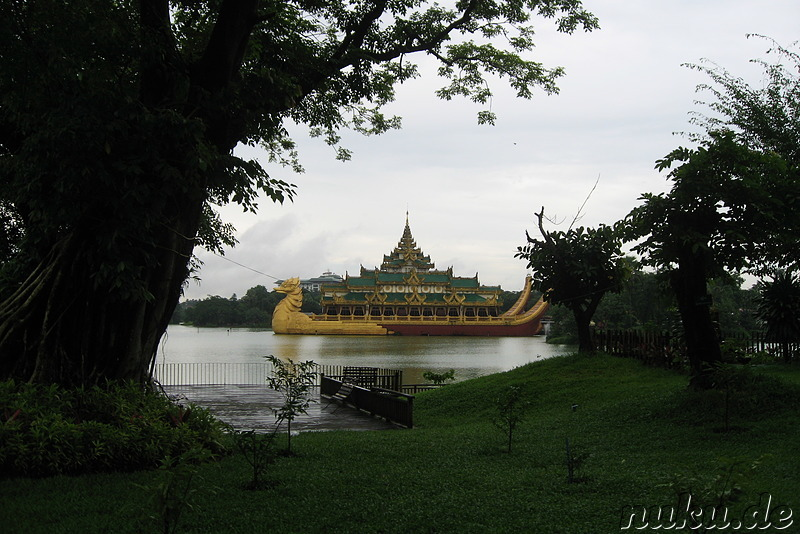 Karaweik Royal Barge in Yangon, Myanmar