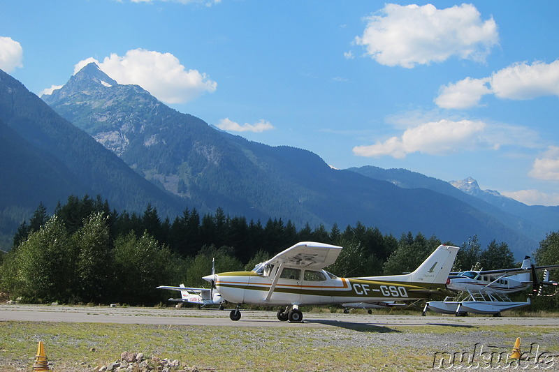 Kleiner Privatflughafen in British Columbia, Kanada