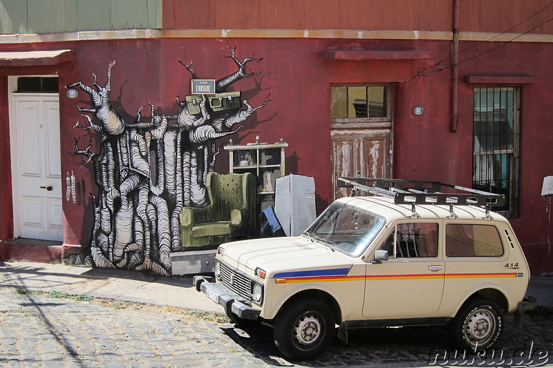 Kunst in Valparaiso, Chile