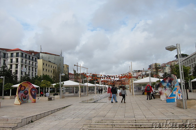 Largo Martim Moniz in Lissabon, Portugal