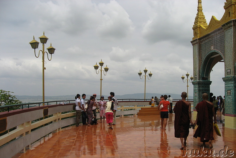 Mandalay Hill in Mandalay, Myanmar