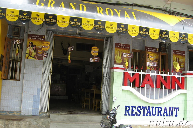 Mann Restaurant in Mandalay, Myanmar