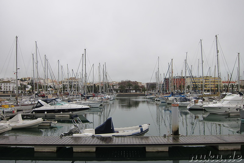 Marina in Lagos, Portugal