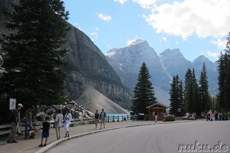 Moraine Lake - See im Banff National Park in Alberta, Kanada