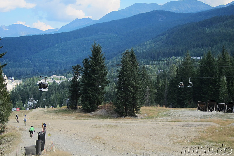 Mountainbiking in Whistler, Kanada