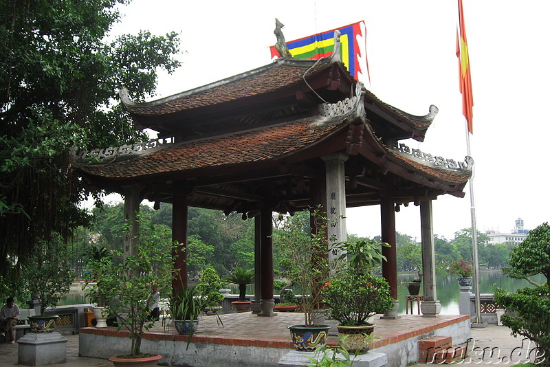 Ngoc Son Jade Mountain Tempel in Hanoi, Vietnam