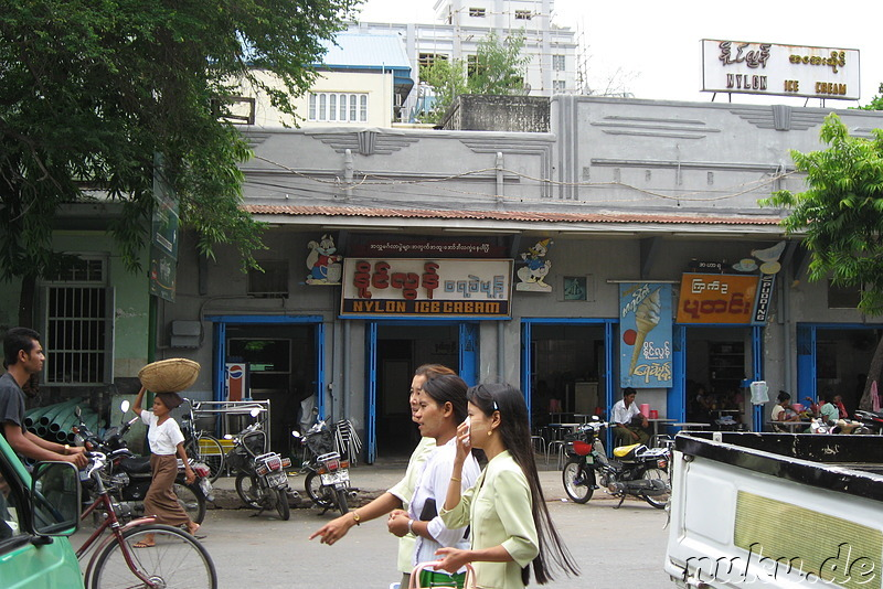 Nylon Ice Cream Bar in Mandalay, Myanmar