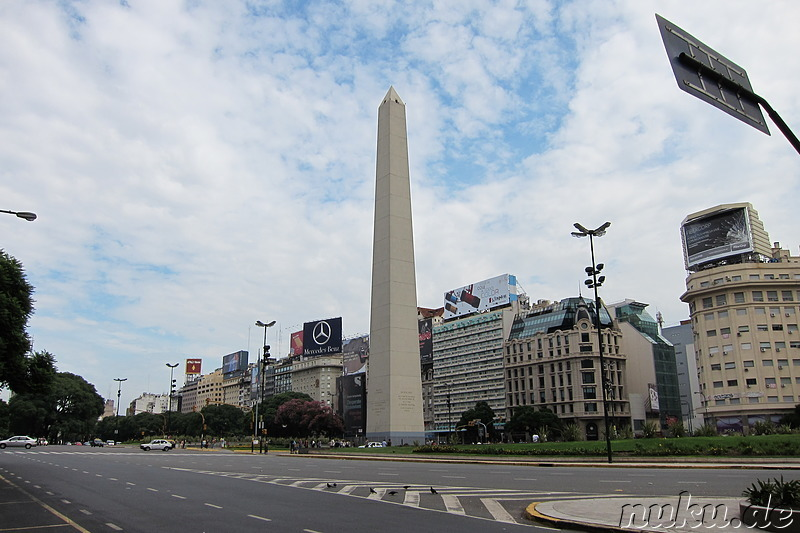 Obelisco am Plaza de la Republica in Buenos Aires, Argentinien