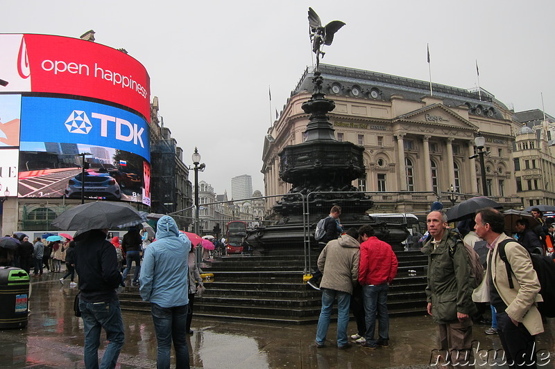 Piccadilly Circus in London, England